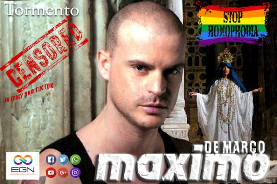 "Maximo De Marco with his gay music video ""Tormento"", wins the ""Gay Icon Music Award 2021"", as the best gay-themed music video in history!"
