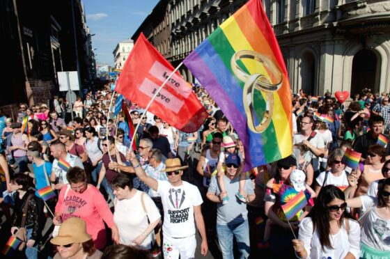 We want Hungary out of Europe! Anti-constitutional law against gay people approved!