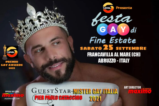 MISTER GAY ITALY 2021 IN THE GAY PARTY IN ABRUZZO ITALY!